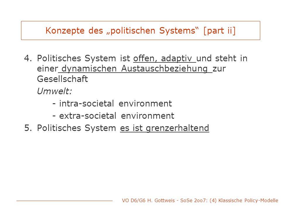 """Konzepte des """"politischen Systems [part ii]"""
